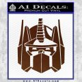 Optimus Prime Decal Sticker Transformers BROWN Vinyl 120x120