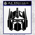 Optimus Prime Decal Sticker Transformers Black Vinyl 120x120