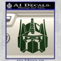 Optimus Prime Decal Sticker Transformers Dark Green Vinyl 120x120