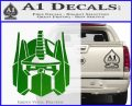 Optimus Prime Decal Sticker Transformers Green Vinyl Logo 120x97