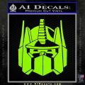 Optimus Prime Decal Sticker Transformers Lime Green Vinyl 120x120