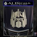 Optimus Prime Decal Sticker Transformers Metallic Silver Emblem 120x120