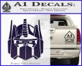 Optimus Prime Decal Sticker Transformers PurpleEmblem Logo 120x97