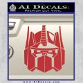 Optimus Prime Decal Sticker Transformers Red 120x120