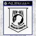 POW MIA Decal Logo Sticker D2 Black Vinyl 120x120