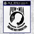 POW MIA Emblem Decal Sticker D1 Black Vinyl 120x120
