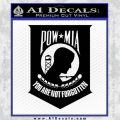 POW MIA Official Decal Sticker D4 Black Vinyl 120x120