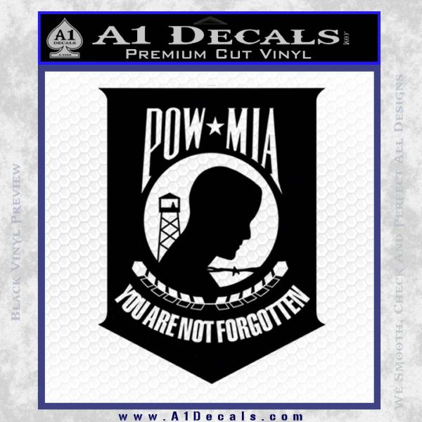 Pow Mia Official Decal Sticker D4 187 A1 Decals