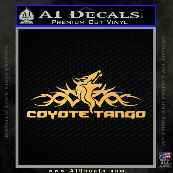 Pacific Rim Coyote Tango Decal Sticker Gold Vinyl