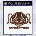 Pacific Rim Crimson Typhoon Decal Sticker BROWN Vinyl 120x120