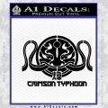Pacific Rim Crimson Typhoon Decal Sticker Black Vinyl 120x120