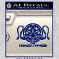 Pacific Rim Crimson Typhoon Decal Sticker Blue Vinyl 120x120
