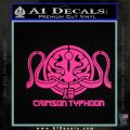Pacific Rim Crimson Typhoon Decal Sticker Pink Hot Vinyl 120x120