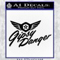 Pacific Rim Gipsy Danger Decal Sticker Black Vinyl 120x120