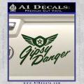 Pacific Rim Gipsy Danger Decal Sticker Dark Green Vinyl 120x120
