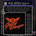 Pacific Rim Gipsy Danger Decal Sticker Orange Emblem 120x120