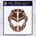 Pacific Rim Helmet Pilot Decal Sticker BROWN Vinyl 120x120