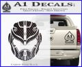 Pacific Rim Helmet Pilot Decal Sticker Carbon FIber Black Vinyl 120x97