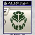 Pacific Rim Helmet Pilot Decal Sticker Dark Green Vinyl 120x120