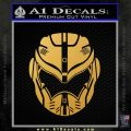 Pacific Rim Helmet Pilot Decal Sticker Gold Vinyl 120x120