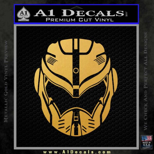 Pacific Rim Helmet Pilot Decal Sticker Gold Vinyl