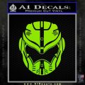 Pacific Rim Helmet Pilot Decal Sticker Lime Green Vinyl 120x120