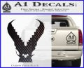 Pacific Rim Kaiju Decal Sticker Carbon FIber Black Vinyl 120x97