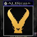 Pacific Rim Kaiju Decal Sticker Gold Vinyl 120x120