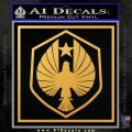 Pacific Rim Pan Pacific Defense Corps Decal Sticker Gold Vinyl 120x120