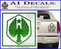 Pacific Rim Pan Pacific Defense Corps Decal Sticker Green Vinyl Logo 120x97
