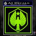 Pacific Rim Pan Pacific Defense Corps Decal Sticker Lime Green Vinyl 120x120