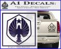 Pacific Rim Pan Pacific Defense Corps Decal Sticker PurpleEmblem Logo 120x97
