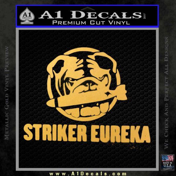 Pacific Rim Striker Eureka Decal Sticker Gold Vinyl