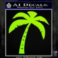 Palm Tree Decal Sticker Classic Lime Green Vinyl 120x120