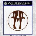 Panty Drop CR Decal Sticker BROWN Vinyl 120x120