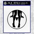 Panty Drop CR Decal Sticker Black Vinyl 120x120