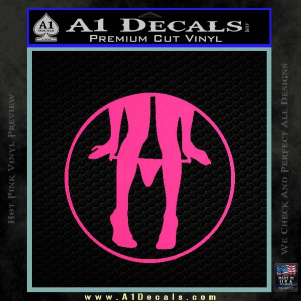 Panty Drop CR Decal Sticker Pink Hot Vinyl
