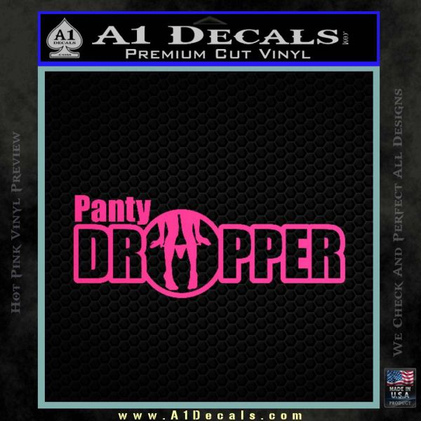 Panty Dropper Wide Decal Sticker Pink Hot Vinyl