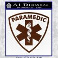 Paramedic Triangular Badge Decal Sticker BROWN Vinyl 120x120