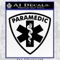 Paramedic Triangular Badge Decal Sticker Black Vinyl 120x120