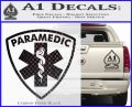 Paramedic Triangular Badge Decal Sticker Carbon FIber Black Vinyl 120x97