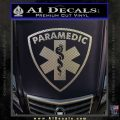 Paramedic Triangular Badge Decal Sticker Carbon FIber Chrome Vinyl 120x120