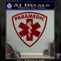 Paramedic Triangular Badge Decal Sticker DRD Vinyl 120x120