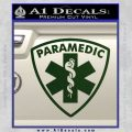 Paramedic Triangular Badge Decal Sticker Dark Green Vinyl 120x120