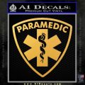 Paramedic Triangular Badge Decal Sticker Gold Vinyl 120x120