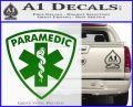 Paramedic Triangular Badge Decal Sticker Green Vinyl Logo 120x97