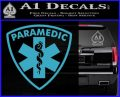 Paramedic Triangular Badge Decal Sticker Light Blue Vinyl 120x97