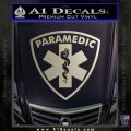 Paramedic Triangular Badge Decal Sticker Metallic Silver Emblem 120x120