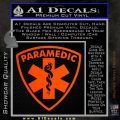 Paramedic Triangular Badge Decal Sticker Orange Emblem 120x120