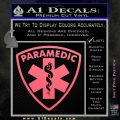 Paramedic Triangular Badge Decal Sticker Pink Emblem 120x120